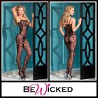 Bodystocking aperta Floral Design Be Wicked Sexy Lingerie Intimo Donna Sex Toys