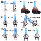 2/4pc H1/h4/h7/h11 12v Super White Halogen Headlight Bulbs Dipped Main Beam Lamp