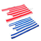 Stripe Red or Blue Plastic Vest Carrier Bags 10