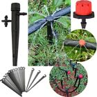 50/100pcs Micro Bubbler Drip Irrigation Adjustable Emitter Stake Water Drippers