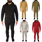 Mens ENTT Tracksuit Full Set  Fleece Top Bottom Hooded Skinny Slim Joggers Pants