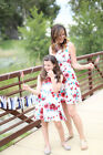 Summer Family Matching Loose Dress Mother Daughter Women Girl Party Beach Dress