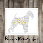 Lakeland Terrier Personalised Memorial Word Art Birthday Gift Print ANY COLOURS