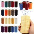 260M 1mm Leather Flat Waxed Thread Cord Sewing Craft for DIY Stitching 20 Colors