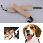 Training Dog Jute Bite Tug Toy w/ 2 Handles Stick Puppy Pet Biting Playing