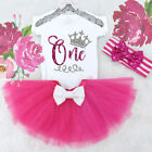 Baby Girl 1st Birthday Outfits Sets Tutu Summer Kids Clothes