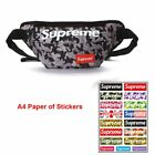 Men Supreme LOGO Waist Bag Fanny Pack Chest Outdoor Pouch Camping Hike Military