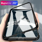 For iPhone X 8 7 6 6s Plus Magnetic Adsorption Metal Case Luxury Tempered Glass