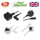 2 pin Figure 8 IEC C7 UK Mains Plug Power Cable Lead Cord TV Stereo