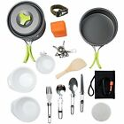 Mess Kit Camping Cookware Backpacking Gear Hiking Bug Out Bag Equipment Cookset