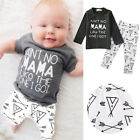Baby Boy Top+Pants Outfits Set -NO MAMA LIKE THE ONE I GE- Infant Autumn Clothes