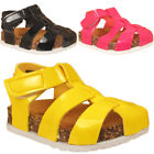 Girls Infants Babies Cut Out Platform Flatform Sandals Shoes Infant Sizes UK