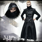 goth aristocrat Enforcement Knight double breasted military hood jacket【CT05601】
