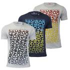Mens T Shirt Crosshatch Noremac Cotton Crew Neck Graphic Printed Casual Top