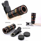 Universal 8X HD Zoom Telephoto Telescope Lens Phone Camera Clip For Smart Phones