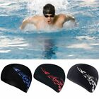 Spandex Swimming Cap Waterproof Stretch Bathing Long Hair Cap Hat w/ Ear Cup