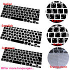 Multi Language Keyboard Cover for MacBook Air Pro Retina Mac 13 15 17inch Good