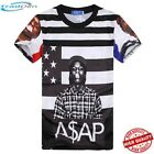 New T-Shirt Men/Women 3D Asap Rocky Novelty Rapper Print Hip Hop Casual Fashion