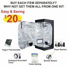 TopoLite Grow Tent Room + Hydroponics Indoor Plants Growing Setup Accessories