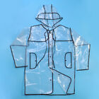 Transparent Clear See Through Waterproof PVC EVA Festival Jacket Raincoat Casual