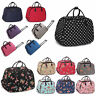 More images of Women Travel Bags Holdall Hand Luggage Ladies Polka Dot Weekend Wheeled Trolley