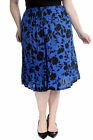 New Womens Plus Size Skirt Ladies Floral Print Skater Style Elastic Flared Sale