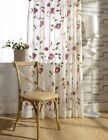2XCustom French Country Cottage Shabby Chic Floral Embroidered Sheer Curtain