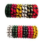 Indian Handmade Bollywood Traditional Wooden Women Fashion 6 Colors Bangles Set