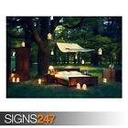 OUTDOOR BEDROOM (AE064) NATURE POSTER - Photo Picture Poster Print Art A0 to A4