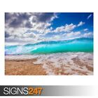 OCEAN WAVES (AE079) NATURE POSTER - Photo Picture Poster Print Art A0 to A4