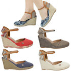 NEW Wrangler Women's Sandals Shoes Espadrille Wedge Slingback Ladies Shoe Size