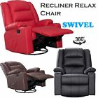 LEATHER RECLINER ARMCHAIR LOUNGE CHAIR OR FABRIC RECLINING HOME CINEMA GAMING
