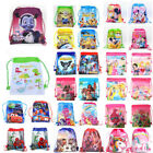 Kids Boys Girls Children Cartoon Drawstring PE Swimming Party Bag Book Bag image