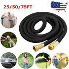 Deluxe 25 50 75FT Expandable Flexible Garden Water Hose Pipe or Spray Nozzle