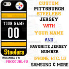 NFL PITTSBURGH STEELERS PHONE CASE COVER FITS iPHONE SAMSUNG HTC LG etc NAME&#.