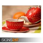 CLASSIC CUP OF TEA AND TEAPOT (AE366) - Photo Picture Poster Print Art A0 to A4