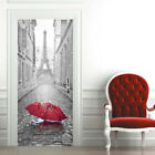 3D Door Wall Sticker Decals Self Adhesive Mural Scenery Fabric Home Decor