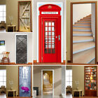 3d Door Wall Fridge Sticker Decals Self Adhesive Mural Scenery Fabric Home Décor