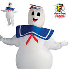 Ghostbusters Marshmallow Man Inflatable Costume Mens The Stay Puft Fancy Dress