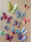 3D Butterfly Home Decor Wall Decoration Stickers Magnet 12 Pcs - 56 designs