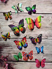 3D Butterfly Home Decor Wall Decoration Stickers Magnet 12 Pcs - 43 colours