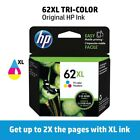 HP 62XL High-Yield Single Ink Cartridge (Black or Color), NEW in Box, EXP 2019