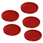 5 Pieces Durable Plastic Air Hockey Table Replacement Pucks - Choose Colors