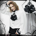 Goth aristocrat imperial Louis royal crest lantern sleeve dress shirt【SHT02302】