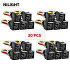 24Pcs GOOACC 12V Car SPDT Automotive Relay + 5 Pin 5 Wires Harness Socket 30 40A
