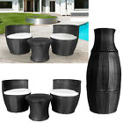 3 Piece Rattan Two Seater Seat Vase Set Garden Furniture Stackable Coffee Table