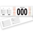 Genuine Versa-Tags Vehicle Stock Number Tags 500 per Box