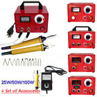 110V 50W/100W Pyrography Machine Gourd Wood Burning Pens Crafts Tools Steel Case