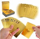LLF Luxury 24K Gold Foil Poker Playing Cards Deck Carta de Baralho with Box Good