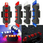 Cycling 5 LED USB Rechargeable Bike Bicycle Light Tail Warning Light Rear Safety